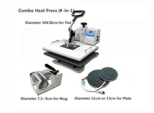 30*38CM T-shirt Heat Press Machine,Heat Transfer Printing Machine Multifunction 4 in 1
