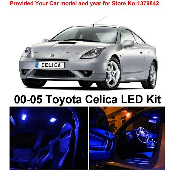 5pcs White Interior LED Light Package Kit for Toyota Celica 2000-2005