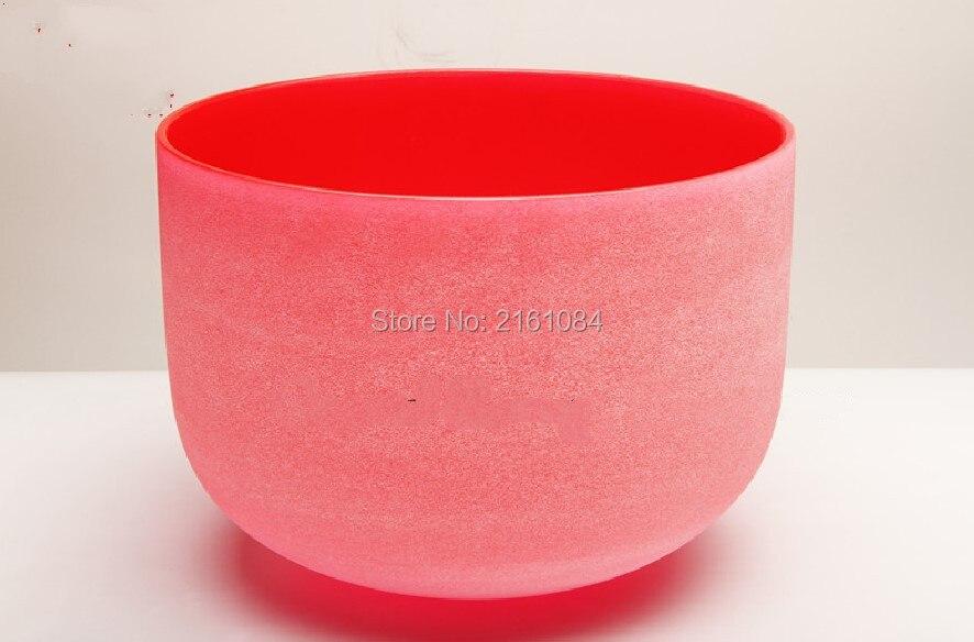 8 матовое C # корень чакра красный Цветной Кварцевый Поющая чаша с бесплатным замши и o-ring