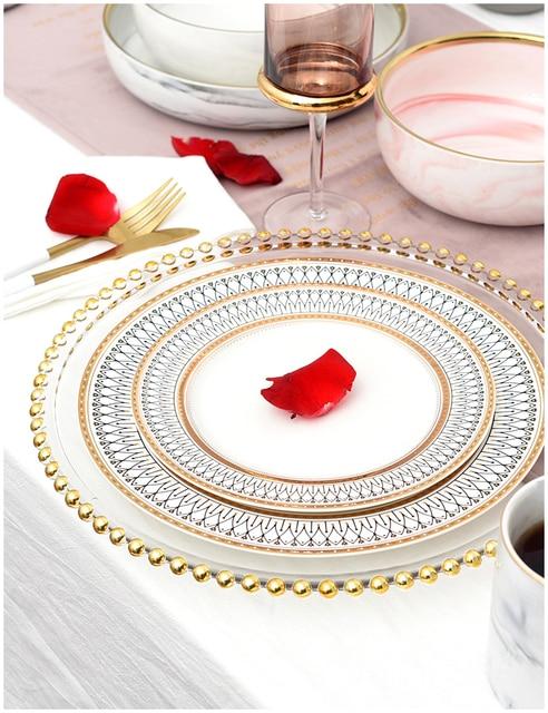 HTB1dwchLhnaK1RjSZFtq6zC2VXa3.jpg 640x640 - dinnerware - Nordic Gold Bead Glass  Wedding Plates
