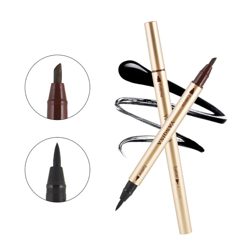 Double Sided Waterproof Eye Brow Eyeliner Liquid Eyebrow Pen Pencil Makeup Cosmetic Beauty Tools 30M2