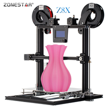 2017 Newest ZONESTAR Full Metal Aluminum Frame Big Size Auto Level Laser Engraving Filament Run out Decect 3d printer DIY kit