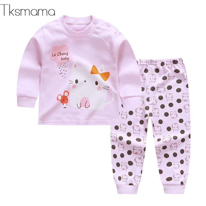 cfeaca69b835 Winter Fall Newborn Baby Girl Clothes Long Sleeve T-shirt + Pants ...