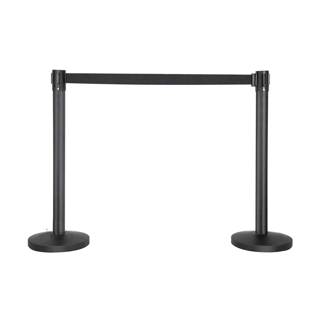 Crowd Control Stanchion Queue Barrier Posts with Retractable Belt Safety/Security Barriers(Black) low price for 2 pcs hotel 3m retractable belt vip crowdcontrol retractable tensa barriers queue way post