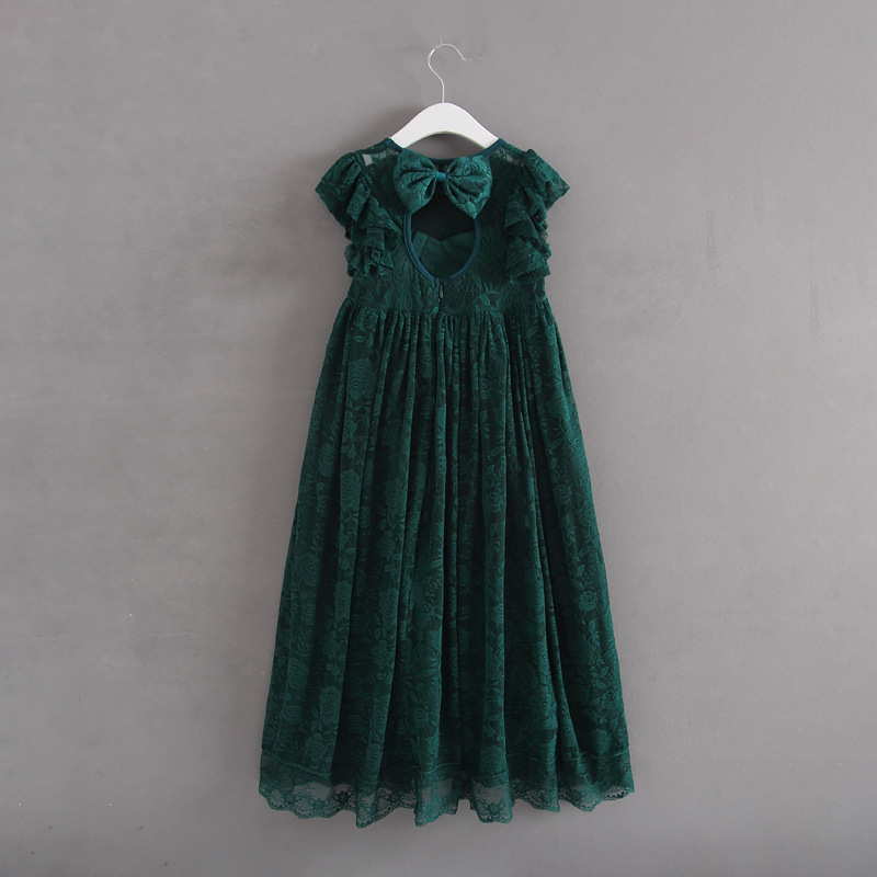 HTB1dwcqfvNNTKJjSspfq6zXIFXaK Girls Dress Spring Autumn European and American Style embroidery Flower vest dress toddler Baby Girls clothing 2-8Yrs