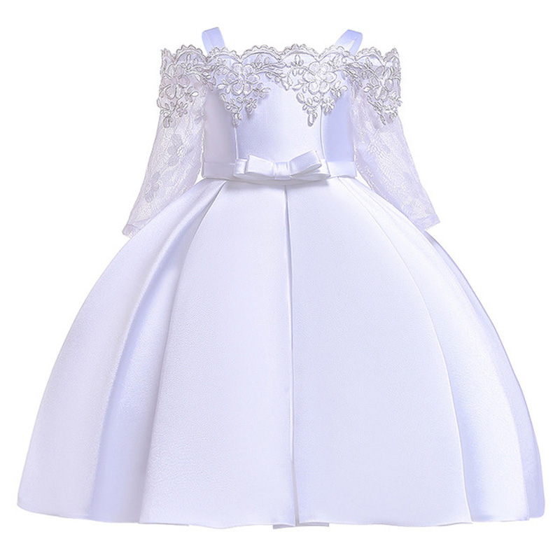 Kids Dresses For Girls Elegant Princess Dress Christmas Children Evening Party Dress Flower Girl Wedding Gown vestido infantil