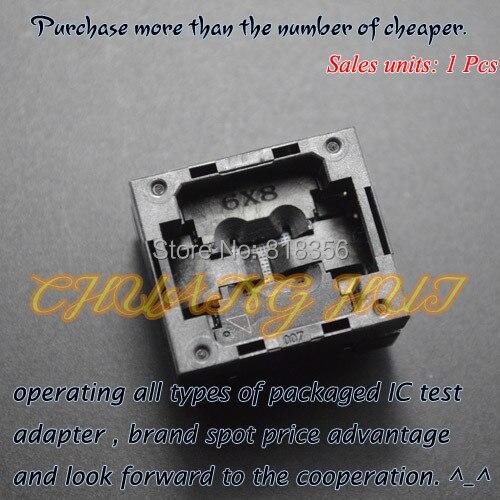 BGA24 prise de test TFBGA24 IC pas de prise = 1.0mm taille = 6x8mmBGA24 prise de test TFBGA24 IC pas de prise = 1.0mm taille = 6x8mm