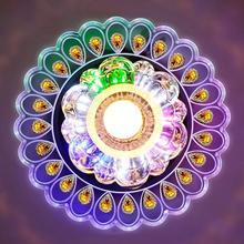 Современный хрустальный светодиодный светильник в гостиную, павлин, Потолочная люстра, лампа для домашнего декора, светильник, цветной светильник