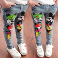 Fashion Kids Spring Summer Jeans trousers Mickey boys jeans Cute denim pants jean trousers for girls kids jeans Girls Spring