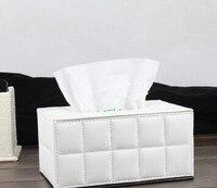 Hoogwaardige invasieve vierkante tissue dozen Gepersonaliseerde minimalistische handdoek buis Rooster modellering pompen tray