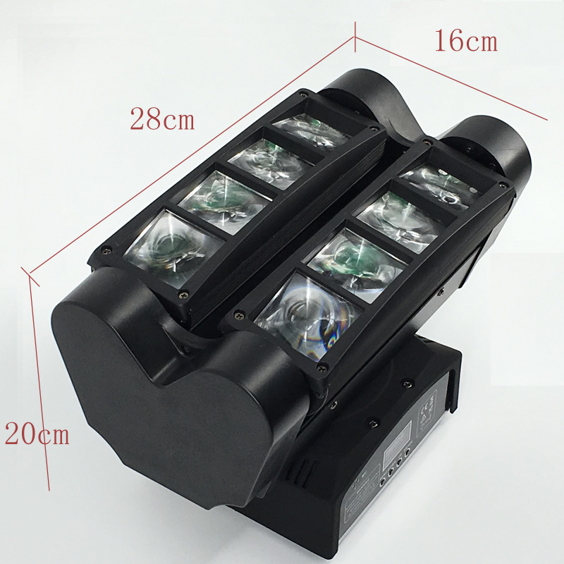 (2pcs) 8x10W RGBW MINI Spider Light Beam Moving Head Light High Quality For Night Club Concert Stage Lighting Effect Fast  2pcs lot led moving head light high quality 8 10w rgbw 4in1 spider beam dj party ktv club light stage effect lighting