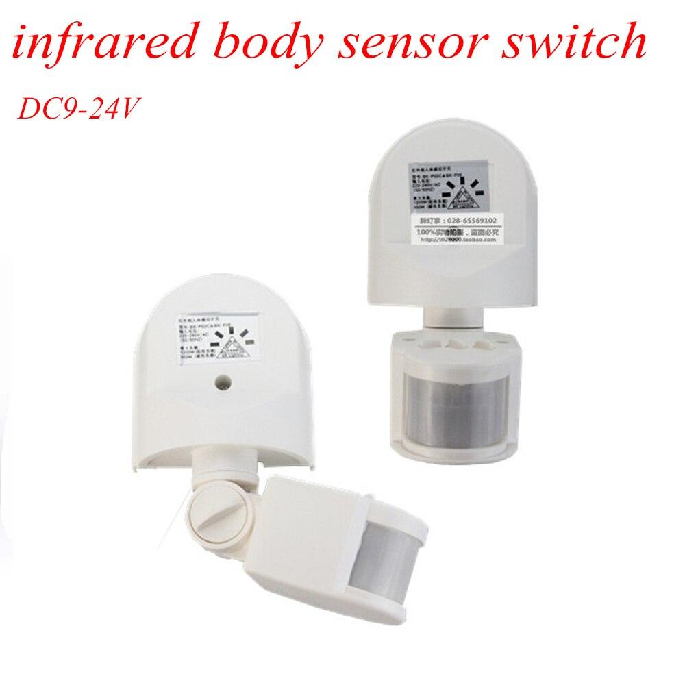 new ip44 outdoor motion sensor wall light lamp led pir infrared motion rf180 degree switch sensor