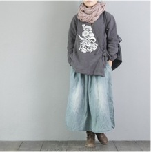 High quality new products on the market in autumn/winter day  2016, the original design of cotton loose big yards Women's cotton