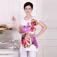 Women Summer Short Sleeve T Shirt Plus Size Loose Shirt O Neck Big Fancy Clothing