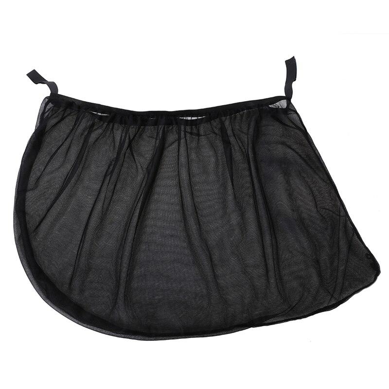 2 Piece Black Car Rear Side Window Sun Visor Shade Mesh Fabric Car Sunshade Curtain Auto Sun Shade Cover Shield UV Protection