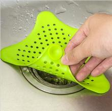 Colorful Silicone Kitchen Cleaner Sink Filter Sewer Drain Hair Colanders & Strainers Filter Bathroom Sink