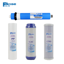 Reverse Osmosis System Filters 10 PP+GAC+CTO+75G CSM Membrane Elements(4pcs/lot)