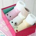 1 Peça Do Bebê Do Algodão Meias Adequados Para 0-2 Anos Dos Desenhos Animados Quentes meias Para Recém-nascidos Unisex Menino Meninas Meias Animais Amarelo Rosa Bege