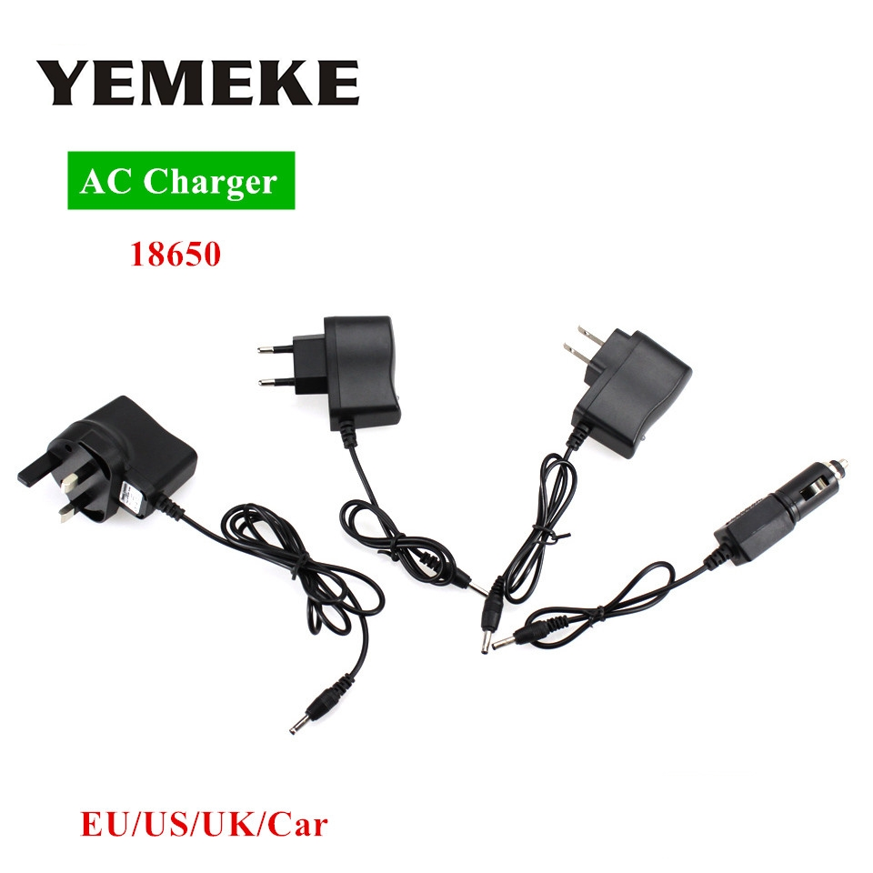 Ac Power Charger Adapter Port To 18650 Battery Flashlight Wiring A Plug Us Headlamp Supply Converters Wire Eu Uk Car Free Shipping