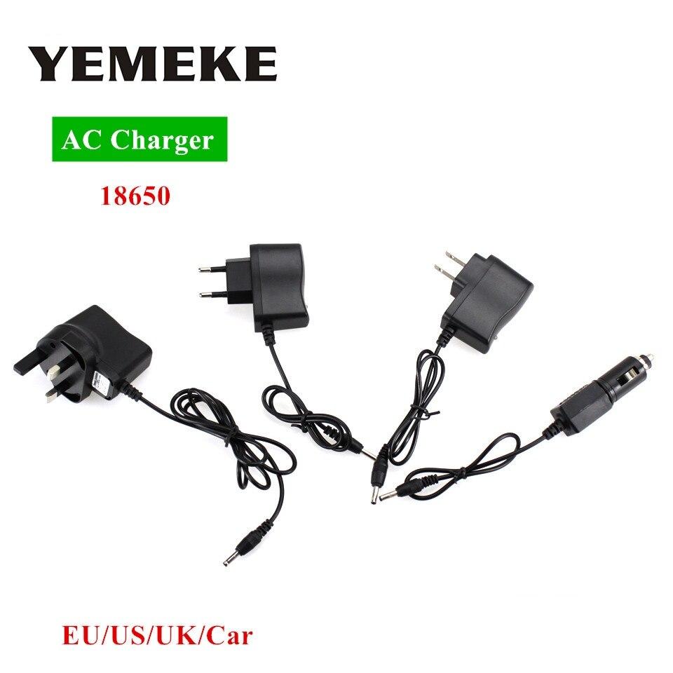 AC <font><b>Power</b></font> <font><b>Charger</b></font> <font><b>Adapter</b></font> Port To 18650 Battery Flashlight Headlamp Supply Converters Wire EU US UK Car Plug Free shipping