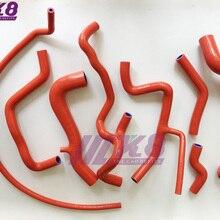 Комплект силиконовых шлангов радиатора для V W Volkswagen Golf MK3 VR6 2,8 2,9 1994-1998(8 шт) красный/синий/черный