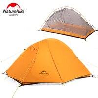 Naturehike палатка Сверхлегкая велосипедная кемпинговая палатка 2 человека двойной слой 20D силиконовый алюминиевый полюс велосипедный рюкзак п