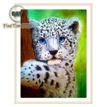 FineTime Little Tiger 5D DIY Diamond Painting Partial Drill Diamond Embroidery Cross Stitch Animals Mosaic Painting finetime white tiger 5d diy diamond painting partial drill diamond embroidery cross stitch animal mosaic painting