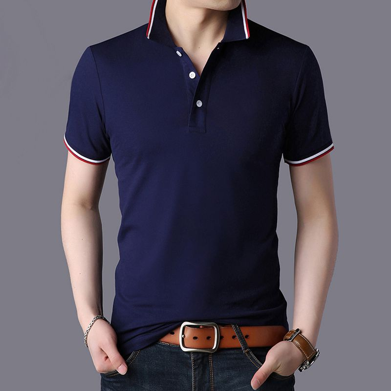 Men   Polo   Shirt 2019 Summer Men Business Casual 95% Cotton Brand New Male Short Sleeve   Polo   Shirts Plus Size 3XL
