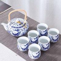 Jingdezhen Tea Set Ceramic Porcelain 6 Cups with 1 Pot Kit / Tea Ceremony Teaware Drinkware Coffee Milk Kettle Pots Water Cup