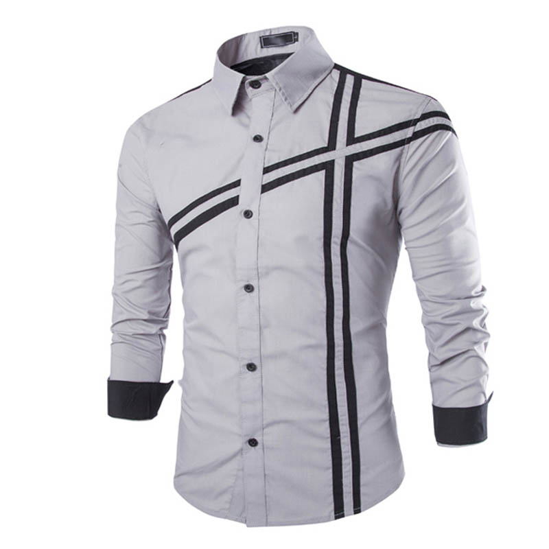 Bien connu Plus size High Quality Korean Style Long Sleeve Men Shirt 2015  OF57