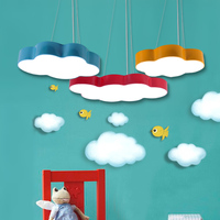Modern Colorful Cloud LED Pendant Light Warm Fashion Single Acrylic Hanglamp Fixtures For Kids Room Cafe