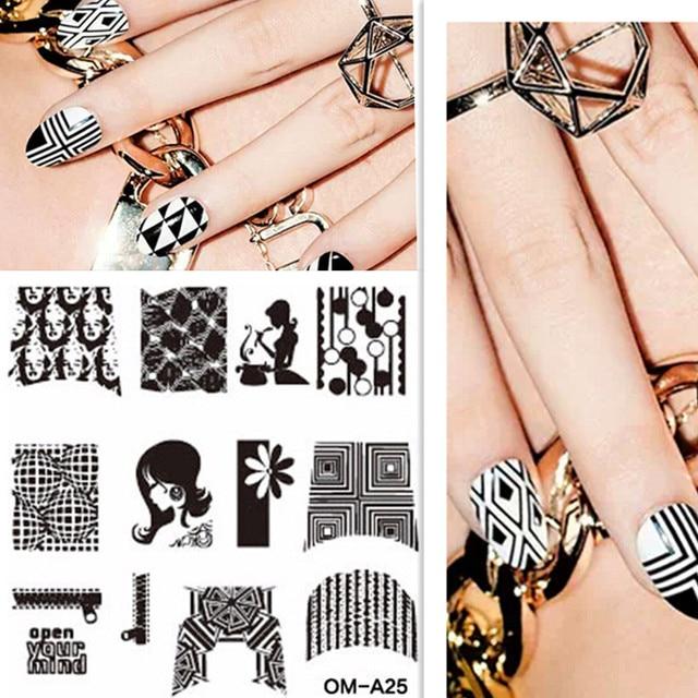 1 Stks Sexy Avatar Patroon Nail Art Stamp Template Meisje Ontwerp