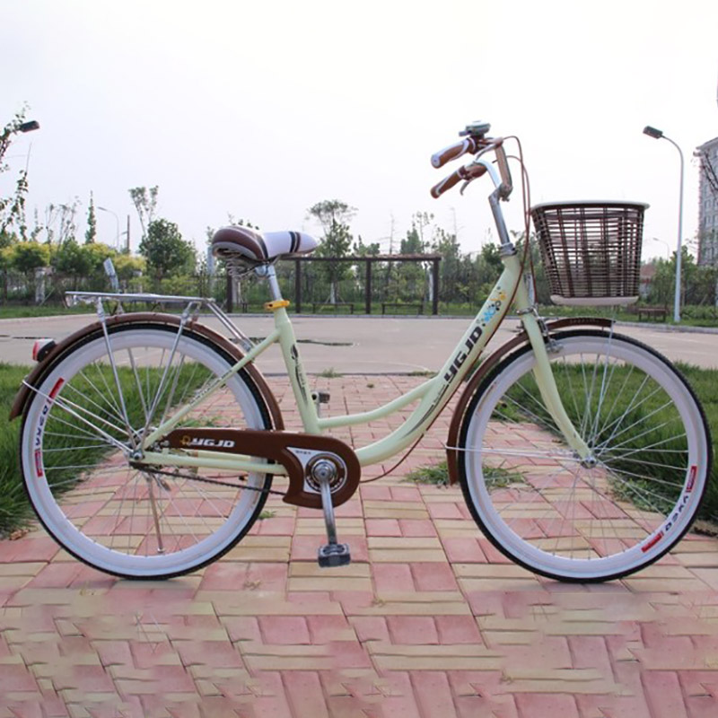 Selling High Quality Carbon Steel Material 24 Inch Tire Thickness Cycling Equipment Manufacturer Ladies Bike