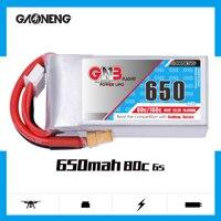 2PCS Gaoneng GNB 650MAH 6S 22.2V 80C/160C HV Lipo battery XT30 XT60 Plug for RC Airplane Helicopter Drone