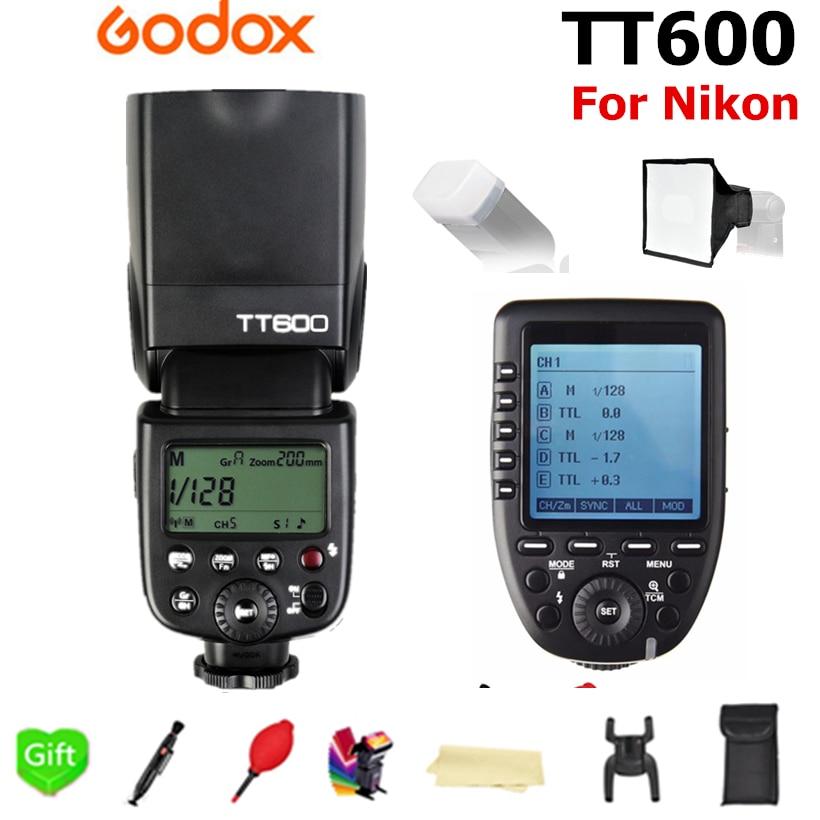 Godox TT600 TT600S GN60 2.4G Sans Fil X-système Flash Speedlite + Xpro-N TTL Trigger pour Nikon D3200 D3300 D5300 D7200 D750 est venu