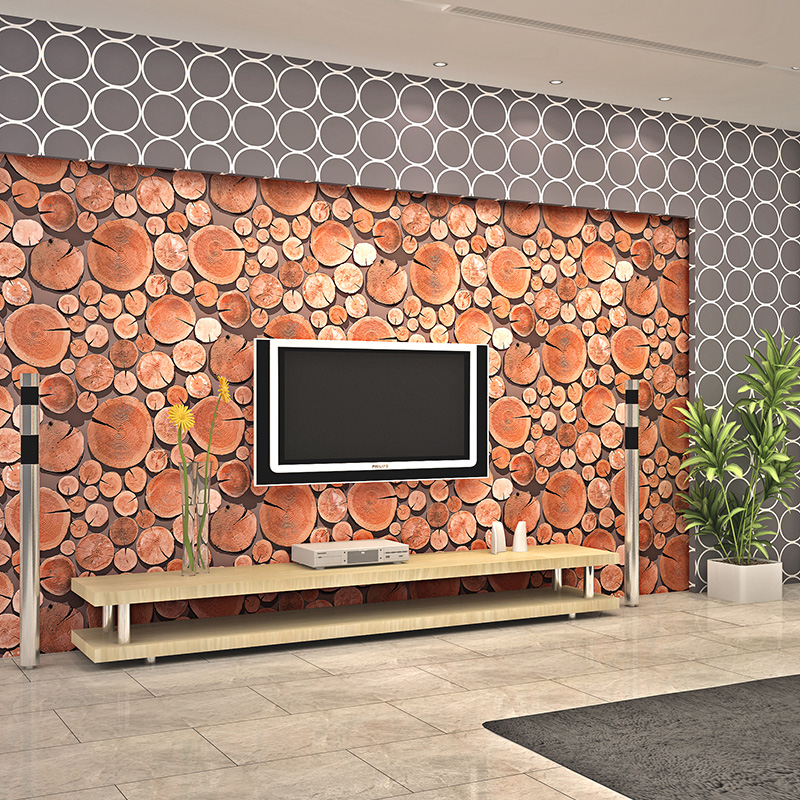 Купить с кэшбэком PAYSOTA 3D wood wallpaperClassical TV Background Wall Paper Living Room Personality Bar Wall Paper Roll