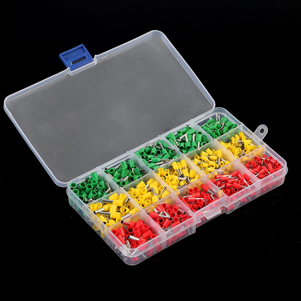 990pcs Electrical Wire Connector Crimp Ferrules Terminals Assortment Kit Cable End Wire Pin Terminal --M25 1000pcs dupont jumper wire cable housing female pin contor terminal 2 54mm new