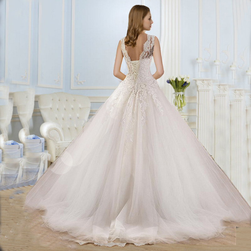 9036 2016 lace white ivory gown wedding dresses for bride for Ivory plus size wedding dresses