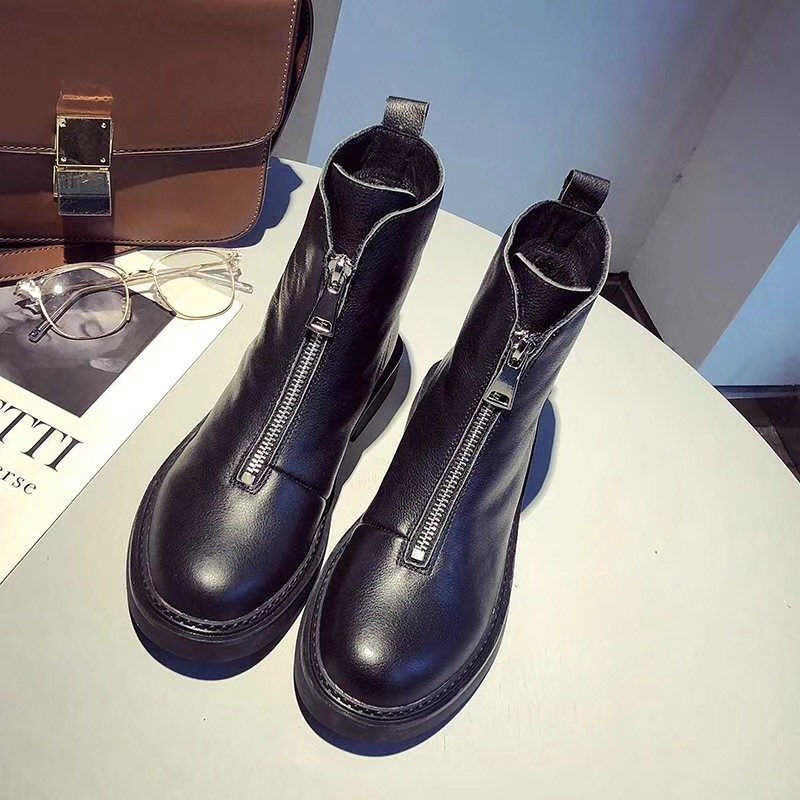 free transport style winter boots women 2019 fashion soft genuine leather women boots size 35 40