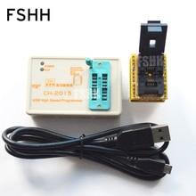 FREIES VERSCHIFFEN! USB SPI FLASH High speed Programmierer CH2015 + 6X8 QFN8/WSON8/DFN8 Adapter 24/93/25/SPI FLASH/EEPROM Programmierer