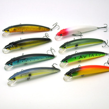 Lots of 8pcs 12cm 17g ABS Hard Fishing Lures Pencil Minnow Hooks w/ PVC Box New