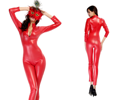 Online Buy Wholesale red leather jumpsuit from China red leather ...