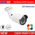 New Metal Case 42 pcs Leds infravermelho 1080 P/960 P/720 P 2mp 2.8mm-12mm Lente Zoom Varifocal CCTV AHD Câmera de Segurança Frete Grátis