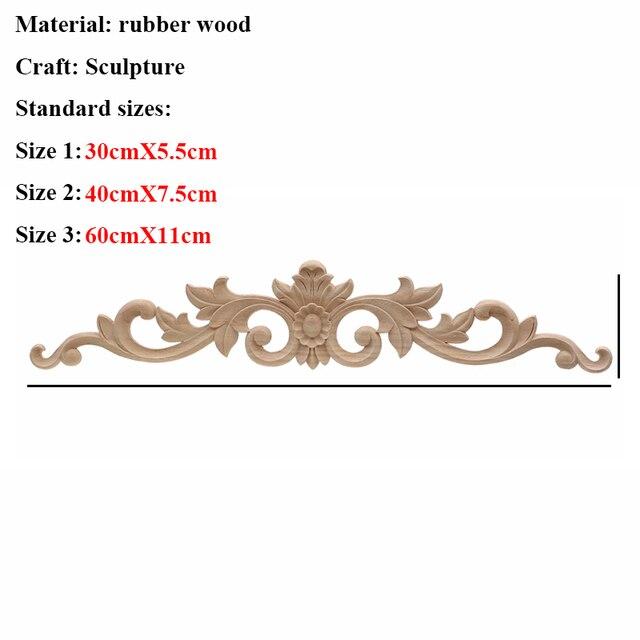 VZLX Floral Wood Carved Corner Applique Vintage Wooden Carving Decal For Furniture Cabinet Door Frame Wall Home Decor Crafts 5