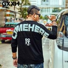 GXXH размера плюс 7XL 6XL мужские свободные футболки с длинным рукавом Повседневные С буквенным принтом «сделай это» хлопковые Осенние футболки более размера мужские футболки