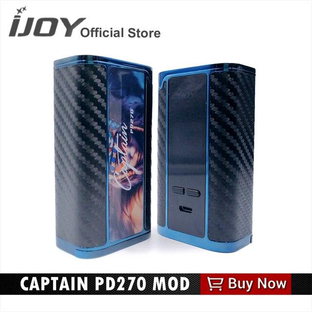 Оригинал IJOY капитан PD270 электронная сигарета mod большой VAPE поле mod с 20700 Батарея VS 18650 Батарея коробка м