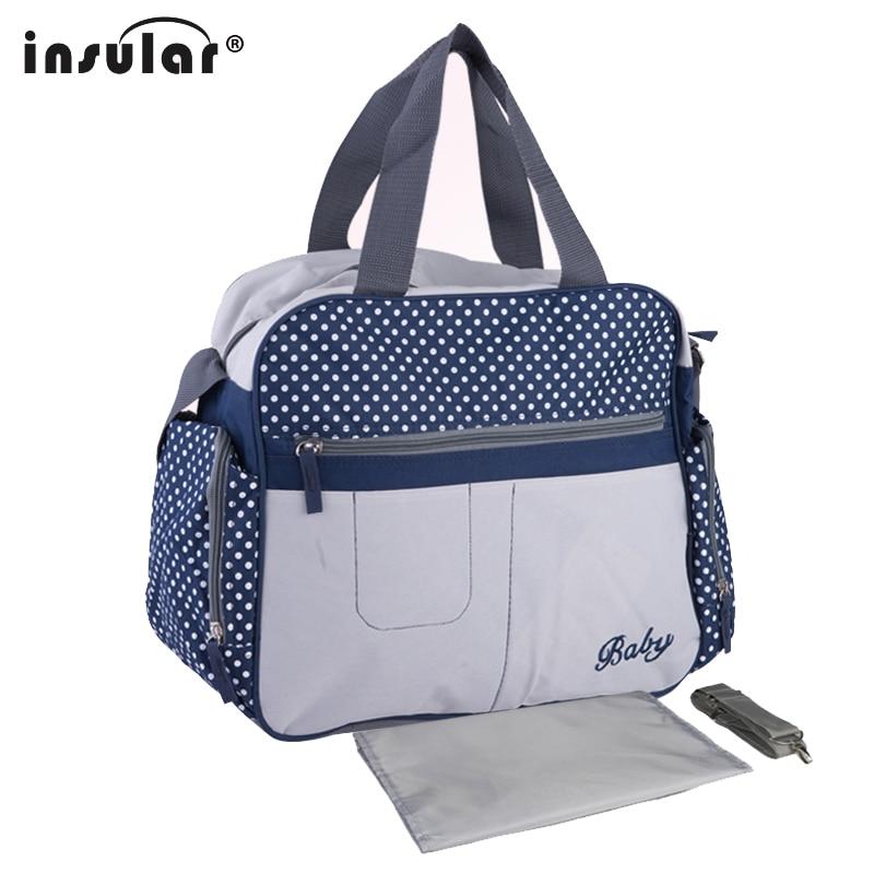 Insular 600D Nylon Diaper Bag Baby Nappy Bags Mother Shoulder Bag Fashion Maternity Mumm ...