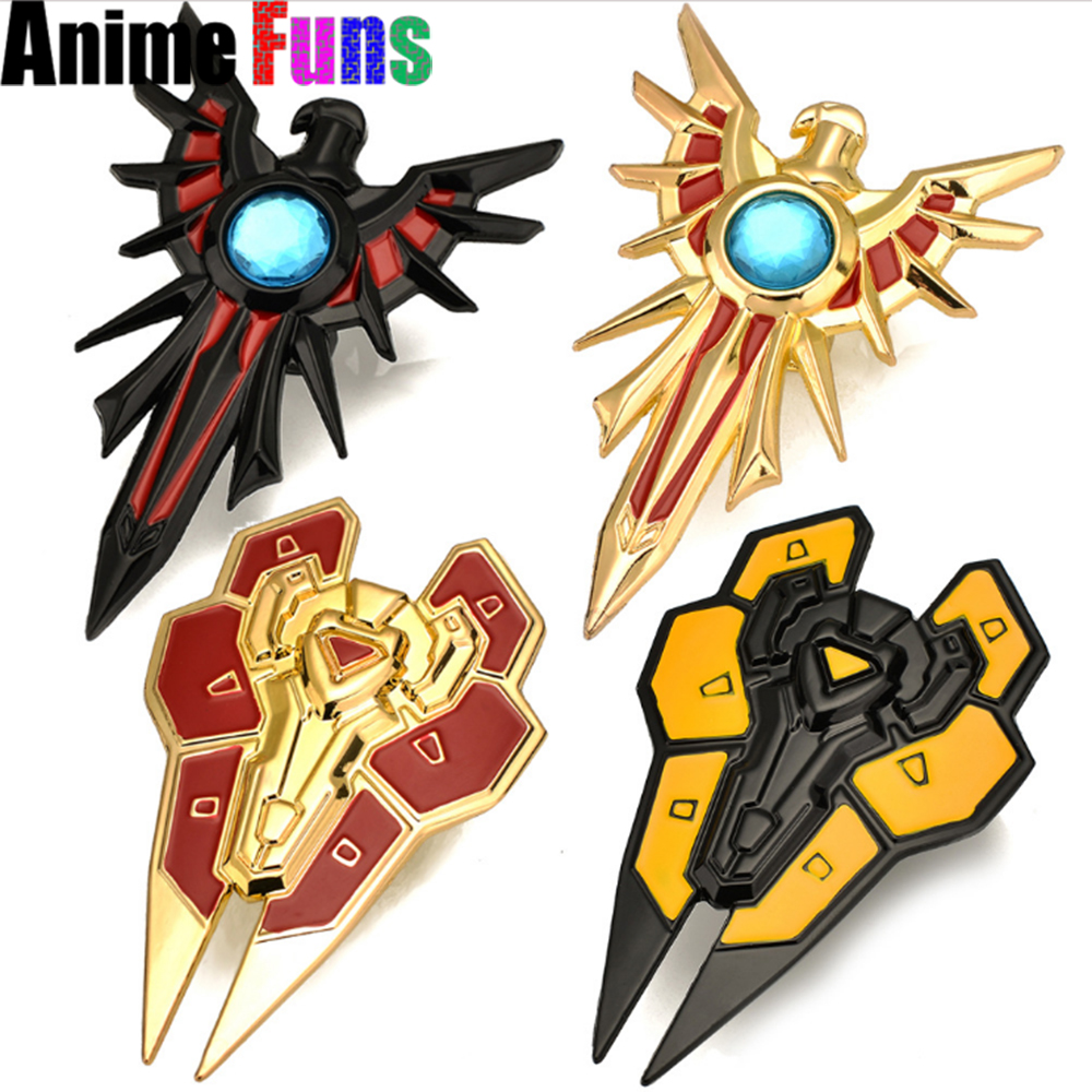10cm Game <font><b>League</b></font> <font><b>Of</b></font> <font><b>Legends</b></font> Leona ring LOL Weapon Shield Fingertip Ring Model Charm <font><b>Cosplay</b></font> Jewelry Gift For <font><b>Men</b></font> drop-shipping image