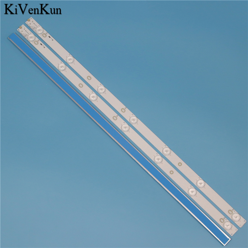 New 7 Lamps 614 Mm LED Backlight Strip For Philips 32PFT5501/60 32PFT5509/12 32PHF5755/T3 Bar Kit TV 3 LED Line Bands HD Lens