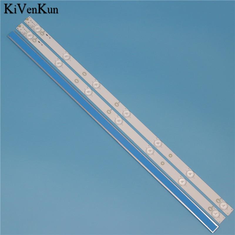 New 7 Lamps 614 Mm LED Backlight Strip For Philips 32PFT5501/60 32PFT5509/12 32PHF5755/T3 Bar Kit TV 3 LED Line Bands HD Lens